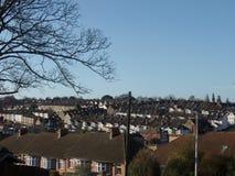 典型的英国屋顶在罗切斯特,肯特 免版税库存照片