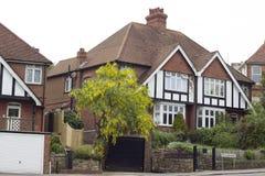 典型的英国房子在海斯廷斯 图库摄影