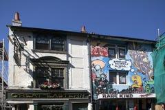 典型的英国连栋房屋在布赖顿 2017年3月01日在布赖顿,大英国 免版税图库摄影