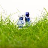 典型的荷兰人德尔福特蓝色陶瓷 免版税图库摄影