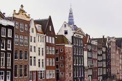 典型的荷兰建筑学在阿姆斯特丹,荷兰,荷兰 库存照片