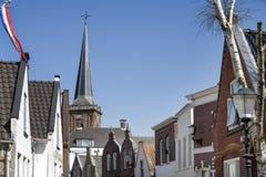 典型的荷兰村庄中心 库存照片