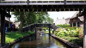 典型的荷兰村庄,羊角村在荷兰 免版税图库摄影