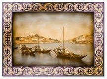 典型的葡萄牙小船,以前用于运输famo 库存图片