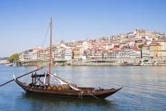 典型的葡萄牙小船以前用于运输famou 库存图片