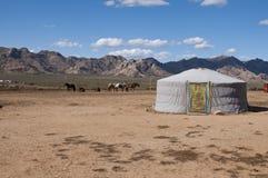 典型的蒙古房子 免版税库存图片
