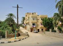 典型的街道在一个阿拉伯国家,埃及 库存照片