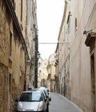 典型的街道在古老西勒鸠斯 库存照片