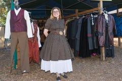 典型的衣裳在风滚草节日期间的待售 免版税图库摄影