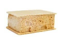 典型的西班牙helado Al corte或corte de helado, sa冰淇凌 免版税库存照片