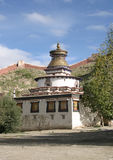 典型的西藏buddist stupa 库存图片