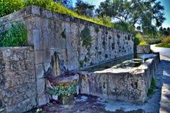 典型的西西里人的喷泉,卡尔塔尼塞塔,意大利,欧洲 库存图片