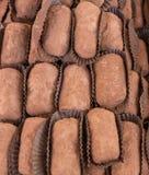 典型的西西里人的甜丝毫巧克力和乳清干酪 意大利酥皮点心传统 免版税库存照片