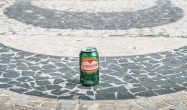典型的软饮料说明社论在巴西告诉了瓜拉纳 免版税库存照片