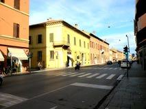典型的都市风景在费拉拉,意大利 免版税库存图片