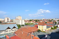 典型的都市风景,布拉索夫, Transilvania 库存图片