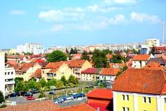 典型的都市风景,布拉索夫, Transilvania 库存照片