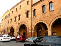 典型的都市lanscape在费拉拉,意大利 库存图片