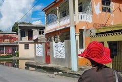 典型的颜色加勒比小屋 免版税库存图片
