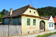 典型的风景在村庄Malancrav,特兰西瓦尼亚 免版税图库摄影