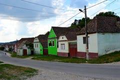 典型的风景在村庄Ungra,特兰西瓦尼亚 库存照片