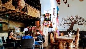 典型的食物餐馆 库存图片