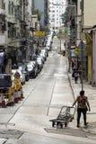典型的香港街道在上环 库存图片
