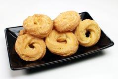 典型的巴西多福饼叫在盛肉盘的Samanta 库存图片