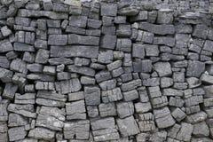典型的Aran海岛Connemara石墙 图库摄影