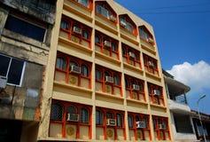 典型的arcitecture的例子在帕纳吉 库存照片