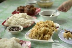 典型的Filippino Pinoy食物 库存照片