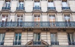 典型的Haussmannian大厦,巴黎。 免版税图库摄影