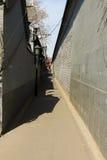 典型的hutong在北京 库存照片