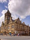 典型的lancashire市中心 库存图片