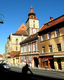 典型的lanscape在布拉索夫, Transilvania 免版税库存图片