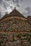 典型的trulli房子在阿尔贝罗贝洛,意大利 库存图片