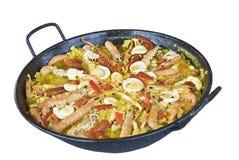 典型肉菜饭的西班牙语 免版税库存照片