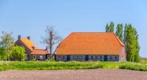 典型荷兰语的农场 图库摄影