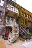 典型蒙特利尔的台阶 免版税库存图片