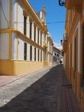 典型西班牙的街道 库存图片