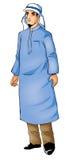 典型阿拉伯的衣物 免版税库存图片