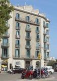 典型巴塞罗那的横向 库存图片