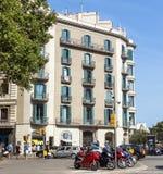 典型巴塞罗那的横向 免版税库存图片