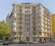典型巴塞罗那的横向 免版税图库摄影