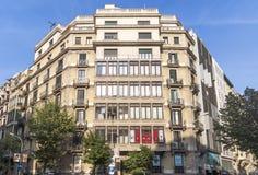典型巴塞罗那的横向 图库摄影