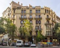 典型巴塞罗那的横向 免版税库存照片