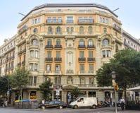 典型巴塞罗那的横向 库存照片