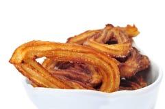 典型churros西班牙的甜点 免版税库存照片