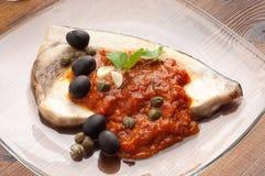 典型messinese西西里岛的箭鱼 免版税库存图片