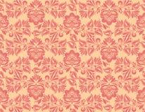 经典墙纸无缝的葡萄酒花纹花样 向量例证